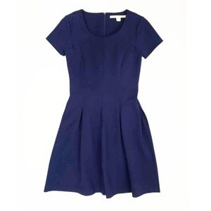 Diane von Furstenberg  Navy Pleated Dress | 4